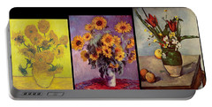 Three Vases Van Gogh - Cezanne Portable Battery Charger
