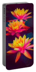 Portable Battery Charger featuring the photograph Three Waterlilies by Chris Lord