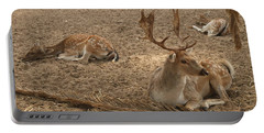 Three Deer Resting Portable Battery Charger