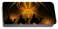 Three Wise Men Christmas Card Portable Battery Charger by Bellesouth Studio
