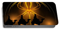 Three Wise Men Christmas Card Portable Battery Charger