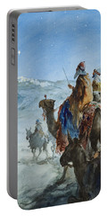 Three Wise Men Portable Battery Charger by Henry Collier