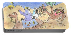Portable Battery Charger featuring the drawing Three Wisemen by Vonda Lawson-Rosa