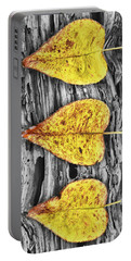 Three Yellow Leaves Portable Battery Charger
