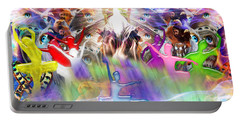 Throneroom Dance Portable Battery Charger by Dolores Develde