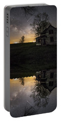 Portable Battery Charger featuring the photograph Through A Mirror Darkly  by Aaron J Groen