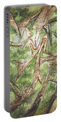 Through Lacy Branches Portable Battery Charger by Angela Stout