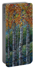 Through The Aspen Trees Diptych 2 Portable Battery Charger