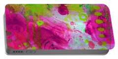 Portable Battery Charger featuring the painting Through The Fire by Tracy Bonin