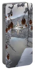 Portable Battery Charger featuring the photograph Through The Snow Trees by Ian Middleton
