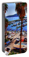 Through The Trees Dubrovnik Harbour Portable Battery Charger