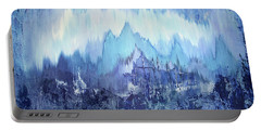Portable Battery Charger featuring the painting Through To Stillness by Shadia Derbyshire
