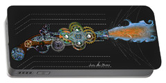 Portable Battery Charger featuring the digital art Thunder Gun by Iowan Stone-Flowers