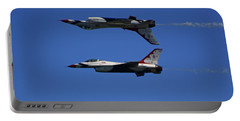 Portable Battery Charger featuring the photograph Thunderbirds Reflective Pass by Raymond Salani III