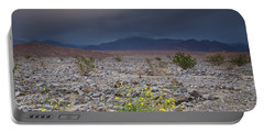 Thunderstorm Over Death Valley National Park Portable Battery Charger