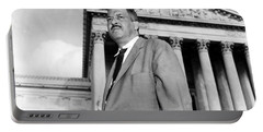 Portable Battery Charger featuring the photograph Thurgood Marshall by Granger
