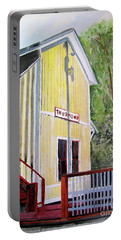 Portable Battery Charger featuring the painting Thurmond Wv Train Station by Sandy McIntire