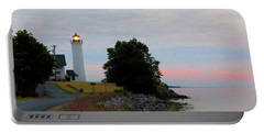 Tibbetts Point Light Sunset Portable Battery Charger