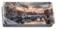 Tiber - Aquarelle Portable Battery Charger by Sergey Simanovsky