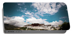 Portable Battery Charger featuring the photograph Tibet Potala Palace Dalai Lama Home Place. Kailash Yantra.lv 2016  by Raimond Klavins