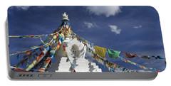 Tibetan Stupa With Prayer Flags Portable Battery Charger