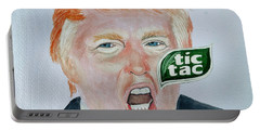 Tic Tac Trump Portable Battery Charger by Edwin Alverio