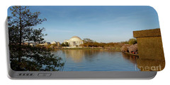 Tidal Basin And Jefferson Memorial Portable Battery Charger by Megan Cohen