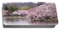 Tidal Basin Cherry Trees Portable Battery Charger
