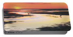 Tidal Flats At Sunset Portable Battery Charger by Roupen  Baker