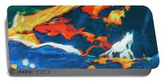 Portable Battery Charger featuring the painting Tidal Forces by Dominic Piperata