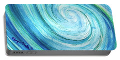 Portable Battery Charger featuring the painting Tidal by Monique Faella