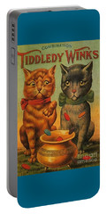 Tiddledy Winks Funny Victorian Cats Portable Battery Charger
