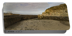 Portable Battery Charger featuring the photograph Tide Out Portreath by Brian Roscorla