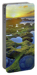 Portable Battery Charger featuring the photograph Tide Pools At Sunset by Tara Turner