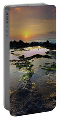 Tide Pools Portable Battery Charger by James Roemmling