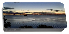 Tides At Dawn On Casco Bay Portable Battery Charger by Patricia E Sundik