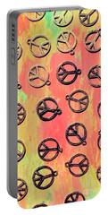 Tie-dye Peace Pendants Portable Battery Charger