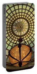 Tiffany Ceiling In The Chicago Cultural Center Portable Battery Charger