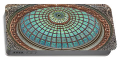 Tiffany Dome - Chicago Cultural Center Portable Battery Charger