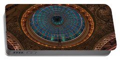Tiffany Glass Dome - Chicago Portable Battery Charger