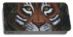 Portable Battery Charger featuring the painting The Hunt by Alga Washington
