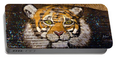 Tiger Portable Battery Charger by Ann Michelle Swadener