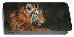 Tiger At Night Portable Battery Charger