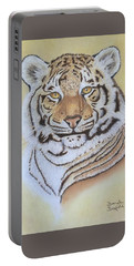 Tiger Portable Battery Charger by Brenda Bonfield