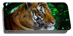 Tiger Contemplation Portable Battery Charger
