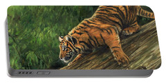 Tiger Descending Tree Portable Battery Charger