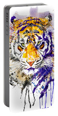 Tiger Head Portrait Portable Battery Charger