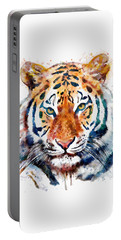 Tiger Head Watercolor Portable Battery Charger