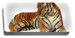 Tiger In Repose Portable Battery Charger