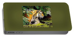 Tiger In The Dundurban Delta Portable Battery Charger